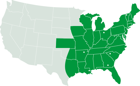 Smith Drug Company Coverage Map